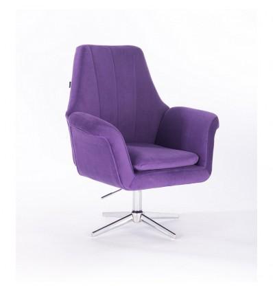 Hroove Salon Chair - Purple Velour BFHR660CROSS Bella Furniture Ireland