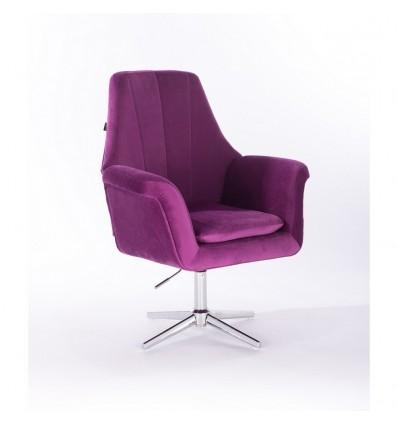 Hroove Salon Chair - Fuchsia Velour BFHR660CROSS Bella Furniture Ireland