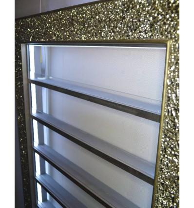 Framed Nail Polish Rack with LED Lighting Bella Furniture Ireland