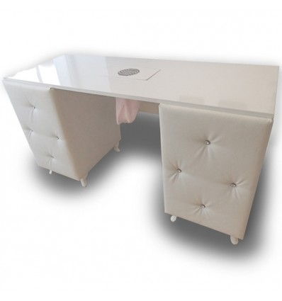 Customized Bespoke Nail Desk Large - Diamond Collection Bella furniture Ireland, beauty salon furniture Ireland,