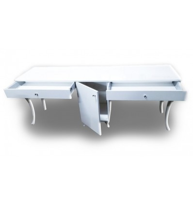 two station nail desk, beauty salon furniture ireland