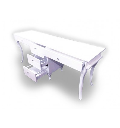 PONZIO Two Station Nail Desk with 5 drawers - Bella Diamond Collection