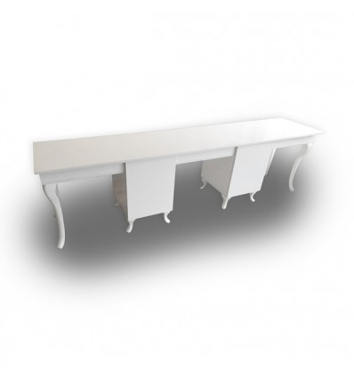 ULISSE Three Station Nail Desk - Bella Diamond Collection
