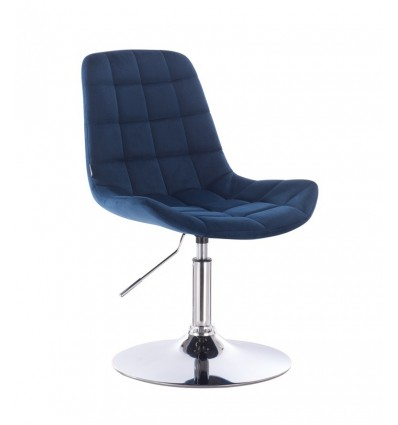 Hroove Salon Chair - Blue Velour BFHR590N Bella Furniture Ireland