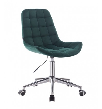 Hroove Salon Chair On Wheels - Green Velour BFHR590K Bella Furniture Ireland