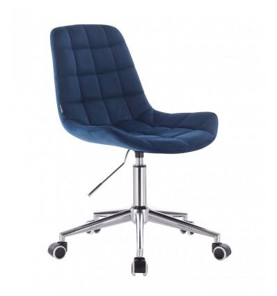 Hroove Salon Chair On Wheels - Blue Velour BFHR590K Bella Furniture Ireland