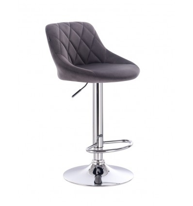High Chair - Grey Velour BFHC1054 Bella Furniture Ireland