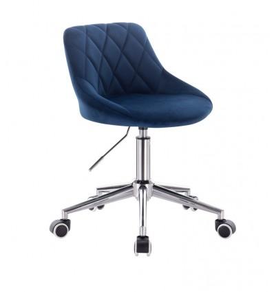 Chair On Wheels - Blue Velour BFHC1053W Bella Furniture Ireland