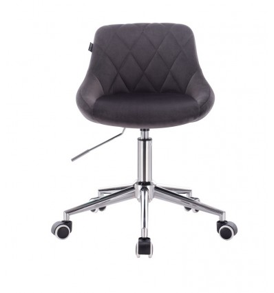 Chair On Wheels - Grey Velour BFHC1053W Bella Furniture