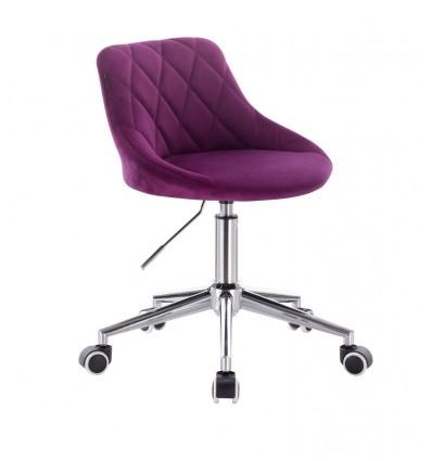 Chair On Wheels - Fuchsia Velour BFHC1053W Bella Furniture