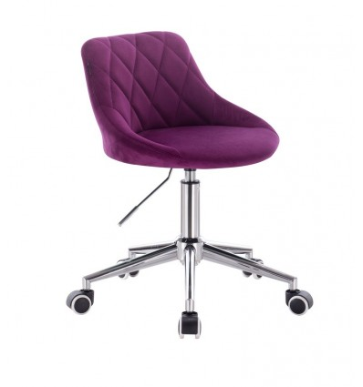 Chair On Wheels - Fuchsia Velour BFHC1053W Bella Furniture