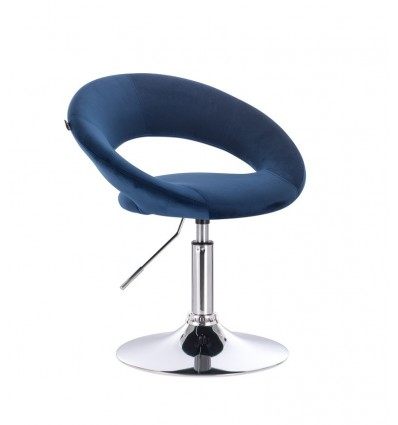 Hroove Salon Chair - Blue Velour BFHR104R Bella Furniture Ireland