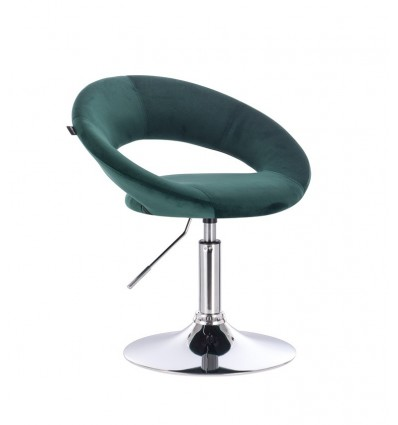 Hroove Salon Chair - Green Velour BFHR104R Bella Furniture Ireland