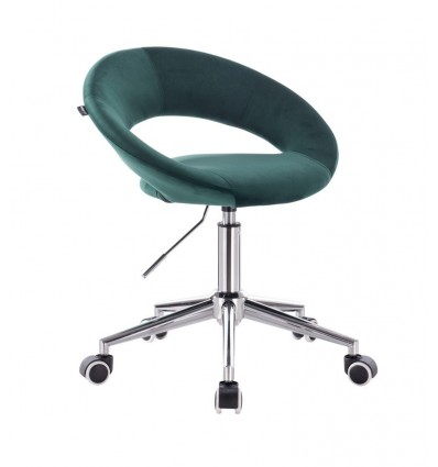 Hroove Chair On Wheels - Green Velour BFHR104W Bella Furniture Ireland