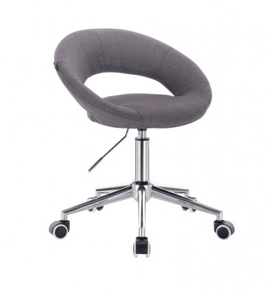 Chair On Wheels - Tweed Grey BFHR104W Bella Furniture Ireland