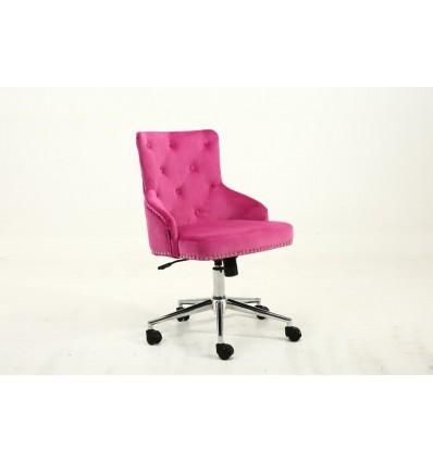Hroove Chair On Wheels - Studded Pink BFHR654K Bella Furniture Ireland