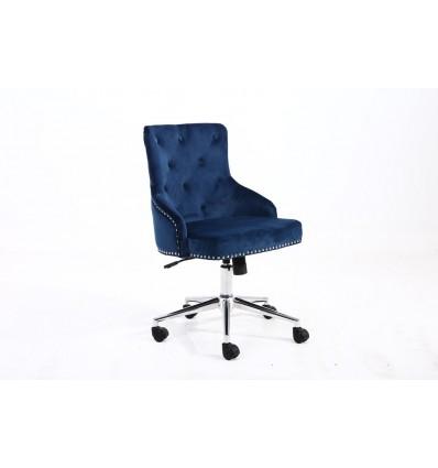 Hroove Chair On Wheels - Studded Blue BFHR654K Bella Furniture Ireland