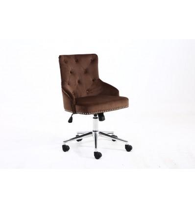 Hroove Chair On Wheels - Studded Brown BFHR654K Bella Furniture Ireland