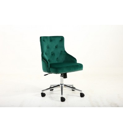 Hroove Chair On Wheels - Studded Green BFHR654K Bella Furniture Ireland