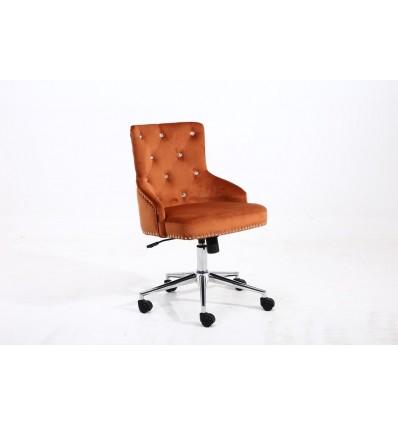 Hroove Chair On Wheels - Studded Orange BFHR654CK Bella Furniture Ireland