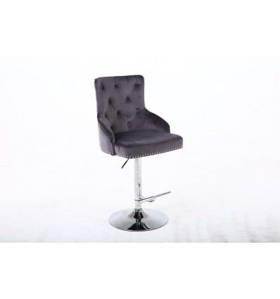 Hroove Salon Chair - Studded Grey BFHR654N Bella Furniture Ireland