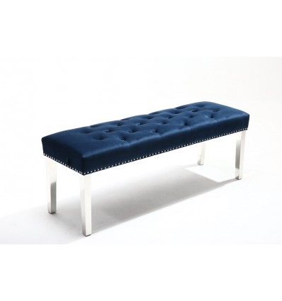 Hroove Bench - Studded Blue BFHR6081 Bella Furniture Ireland