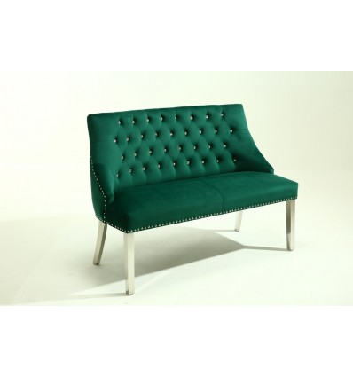Hroove Couch - Studded Green BFHR6074 Bella Furniture Ireland