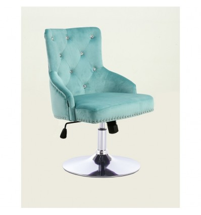 Hroove Salon Chair - Studded Light Blue BFHR555 Bella Furniture Ireland