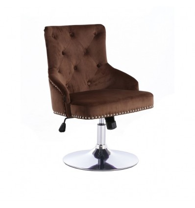 Hroove Salon Chair - Studded Brown BFHR654N Bella Furniture