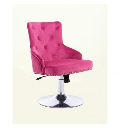 Hroove Salon Chair - Studded Pink BFHR654N Bella Furniture