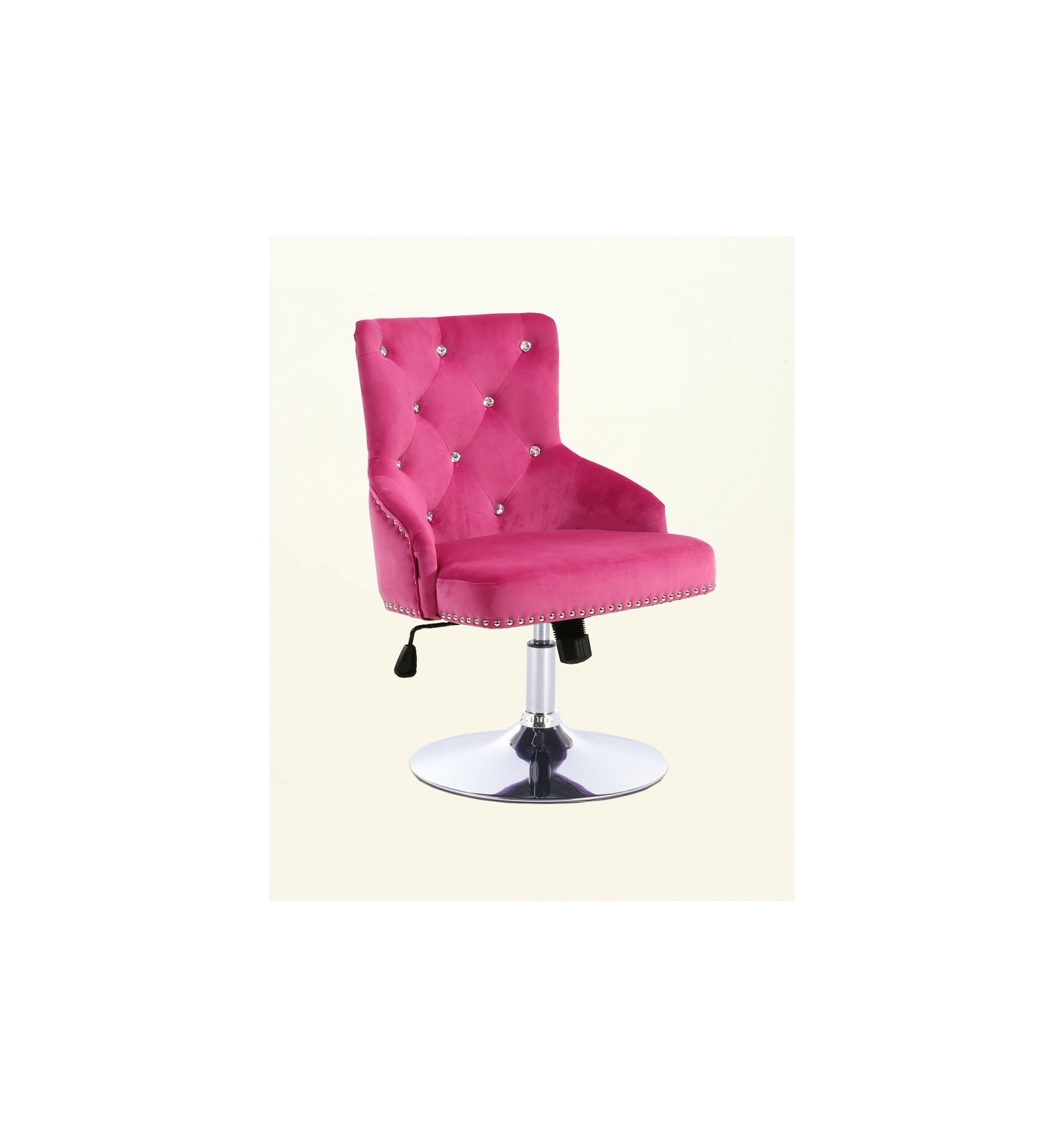 Hroove Salon Chair Studded Pink Hr654cn Bella Furniture Ireland