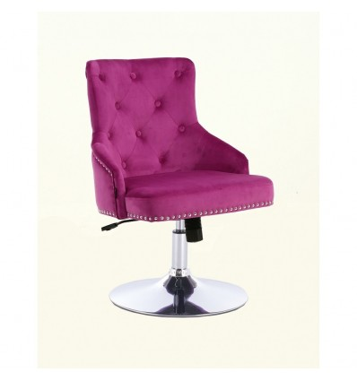 Hroove Salon Chair - Studded Fuchsia BFHR654N Bella Furniture Ireland
