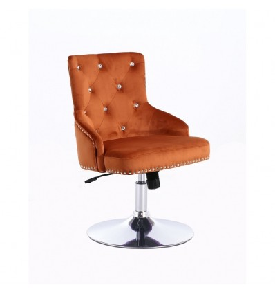 Hroove Salon Chair - Studded Orange BFHR654CN Bella Furniture Ireland