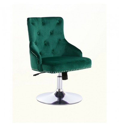 Hroove Salon Chair - Studded Green BFHR654N Bella Furniture Ireland