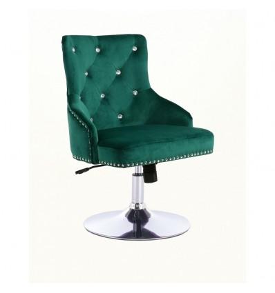 Hroove Salon Chair - Studded Green BFHR654CN Bella Furniture Ireland