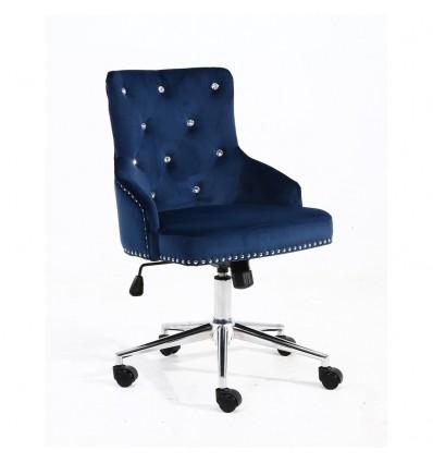 Hroove Chair On Wheels - Studded Blue BFHR654CK Bella Furniture Ireland