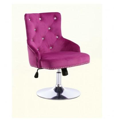 Hroove Chair On Wheels - Studded Fuchsia BFHR654CK Bella Furniture Ireland