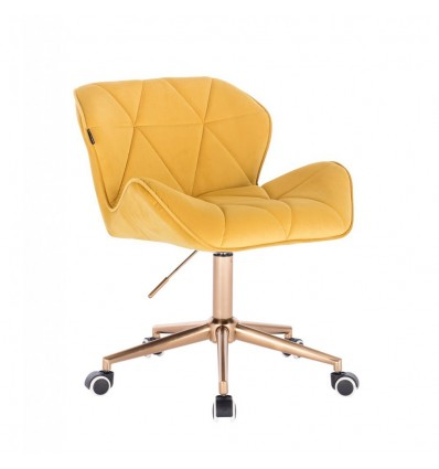 Hroove Chair On Wheels - Yellow Velour BFHR111K