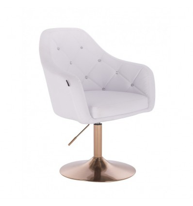 Copper Base Salon Chair - White BFHR830