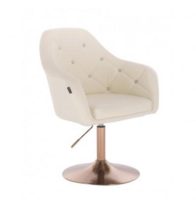 Copper Base Salon Chair - Cream BFHR830