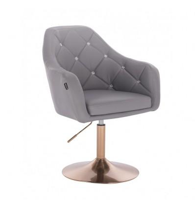 Copper Base Salon Chair - Grey BFHR830