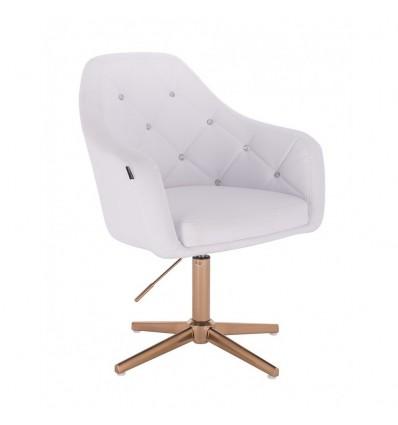 Copper Base Salon Chair - White BFHR830CROSS