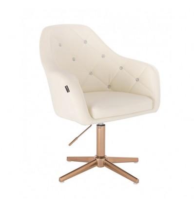 Copper Base Salon Chair - Cream BFHR830CROSS