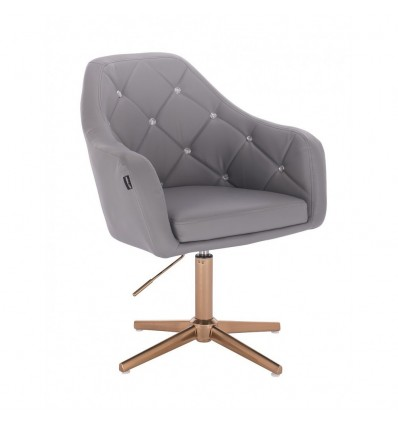 Copper Base Salon Chair - Grey BFHR830CROSS