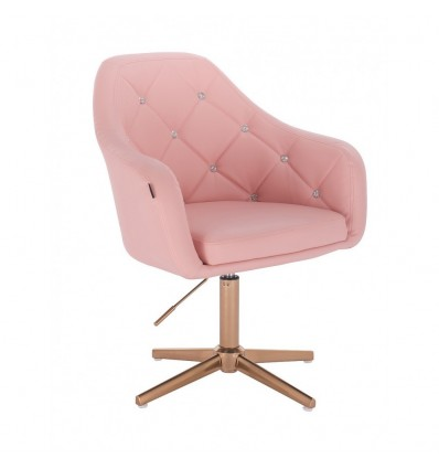 Copper Base Salon Chair - Pink BFHR830CROSS