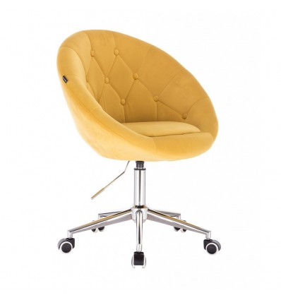 Hroove Salon Chair On Wheels - Yellow BFHR8516CK