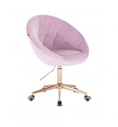 Copper Base Hroove Salon Chair On Wheels - Lavender BFHR8516CK