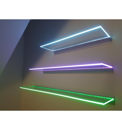 LED Glass Shelf 100x20cm