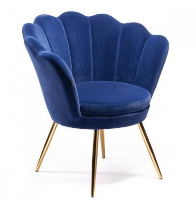 Hroove Salon Chair - Blue Velour BFHR1414