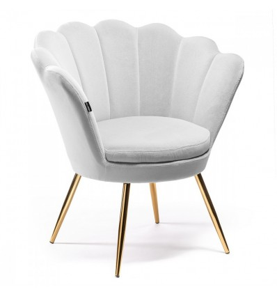 Hroove Salon Chair - White Velour BFHR1414